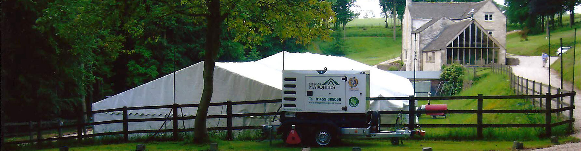 gloucestershire generator hire from elegant marquees nailsworth